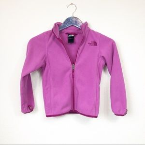 Northface Girls XS Pink Zip Up Sweater